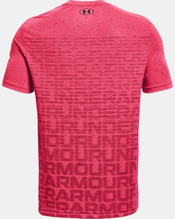 Men's UA Seamless Wordmark Short Sleeve, Pink, pdpMainDesktop image number 5