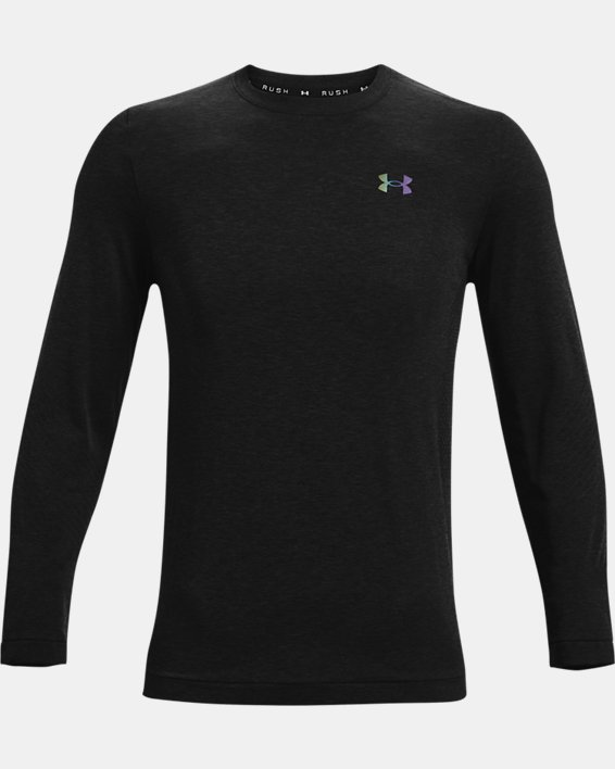 Men's UA RUSH™ Seamless Long Sleeve, Black, pdpMainDesktop image number 4