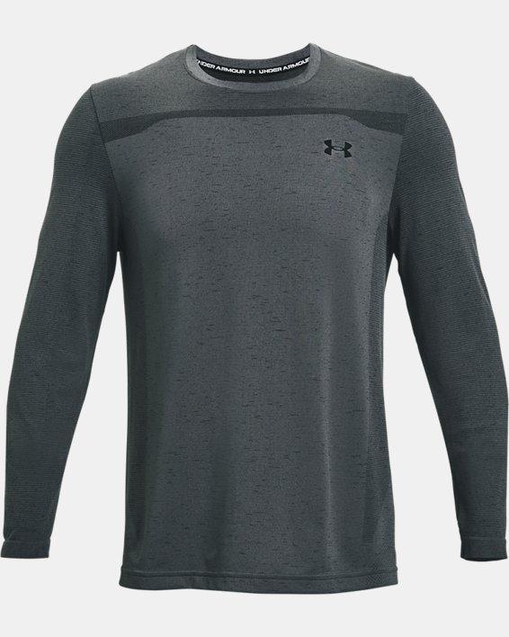 Men's UA Seamless Long Sleeve, Gray, pdpMainDesktop image number 4