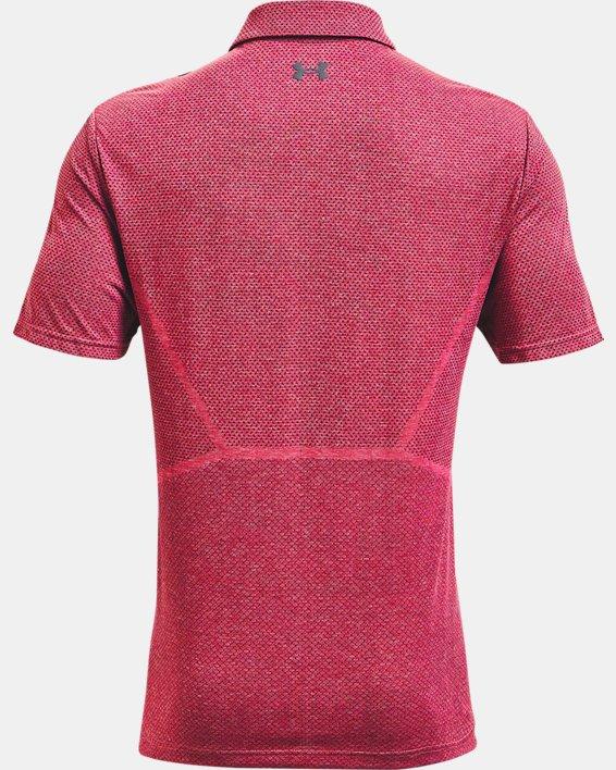 Men's UA Vanish Seamless Mapped Polo, Pink, pdpMainDesktop image number 4