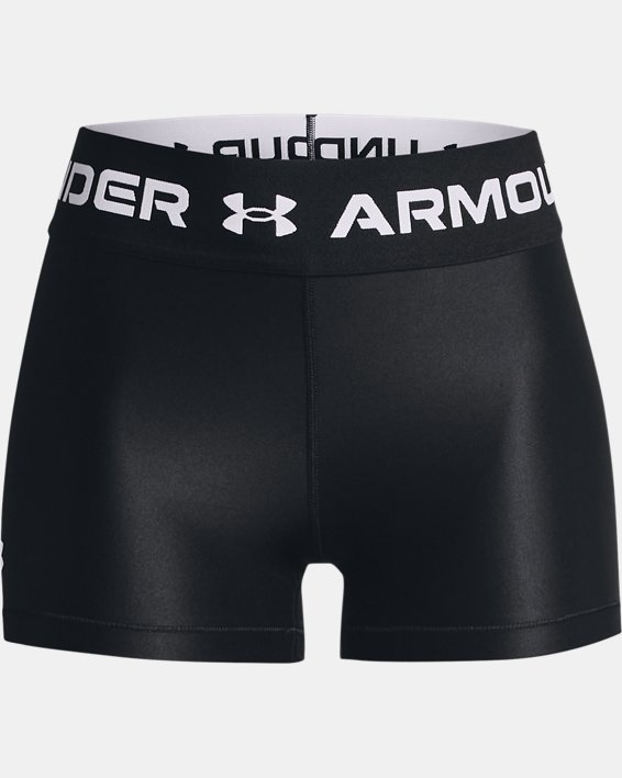Damen HeatGear® Armour Wordmark Waistband Shorty, Black, pdpMainDesktop image number 4