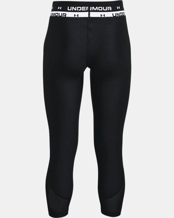 Girls' HeatGear® Armour Crop, Black, pdpMainDesktop image number 1