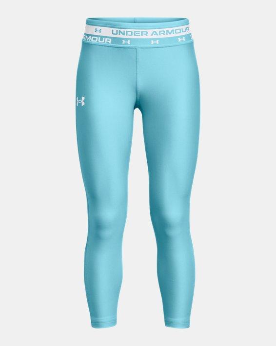 Girls' HeatGear® Armour Crop, Blue, pdpMainDesktop image number 0