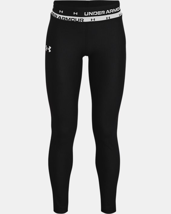 Leggings HeatGear® Armour para niña, Black, pdpMainDesktop image number 0