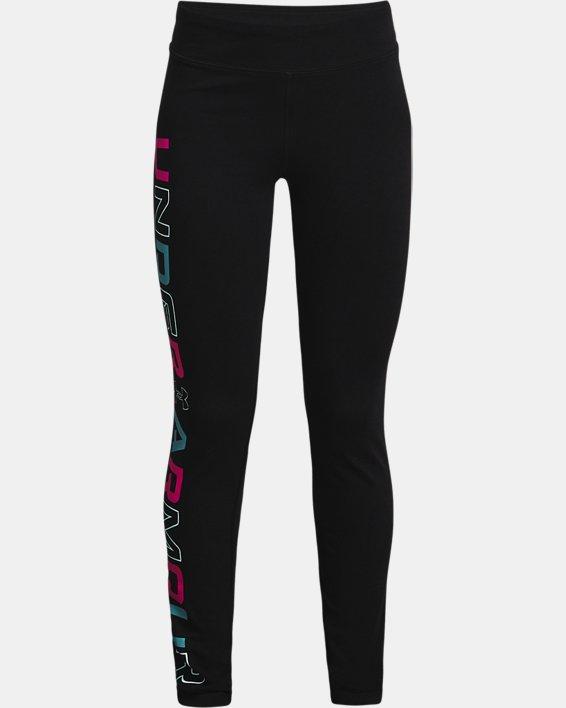 Girls' UA Favorite Leggings, Black, pdpMainDesktop image number 0