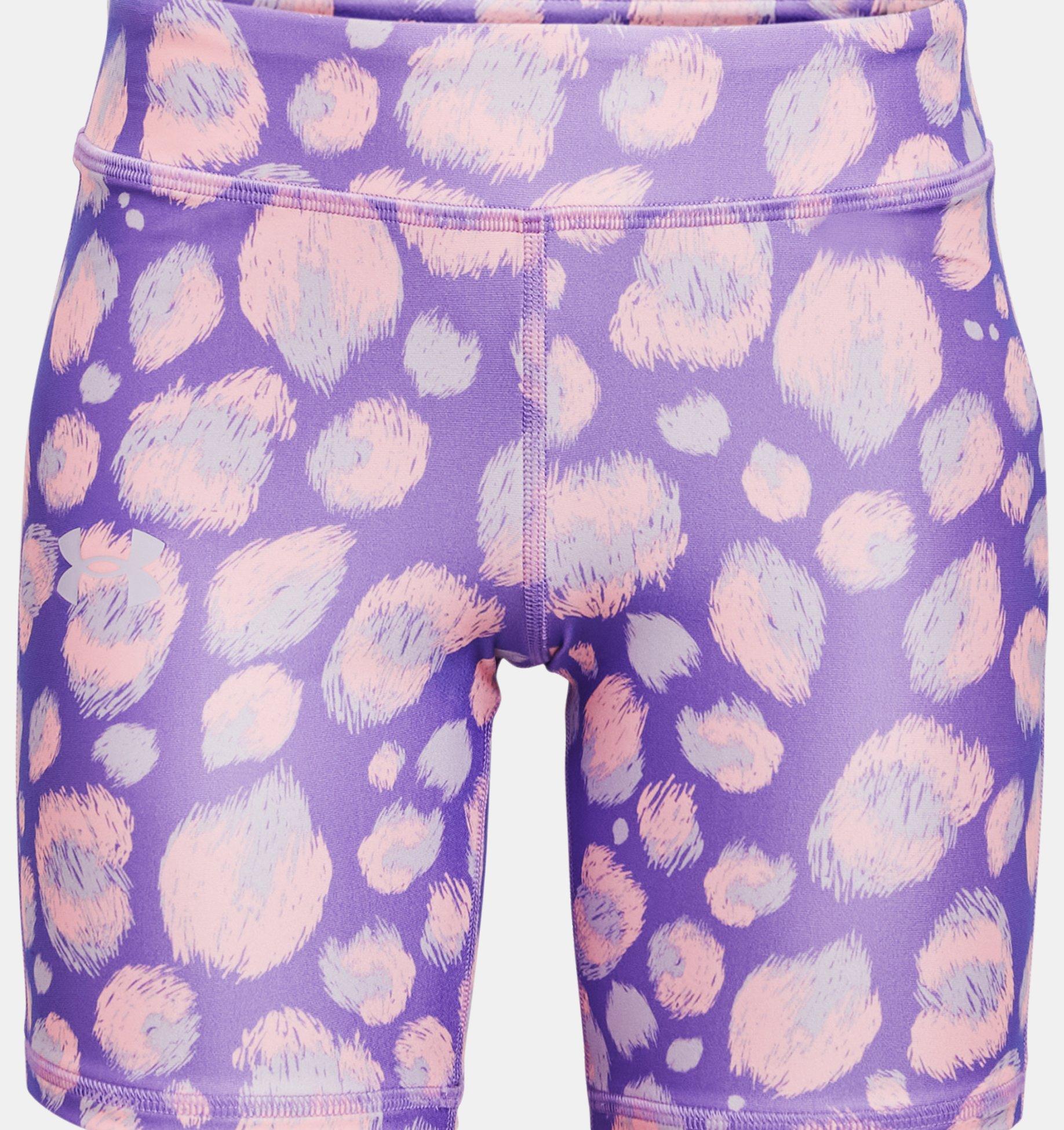 Underarmour Girls HeatGear Armour AOP Bike Shorts