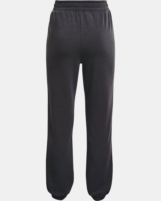 Girls' UA Rival Terry Taped Pants, Black, pdpMainDesktop image number 1