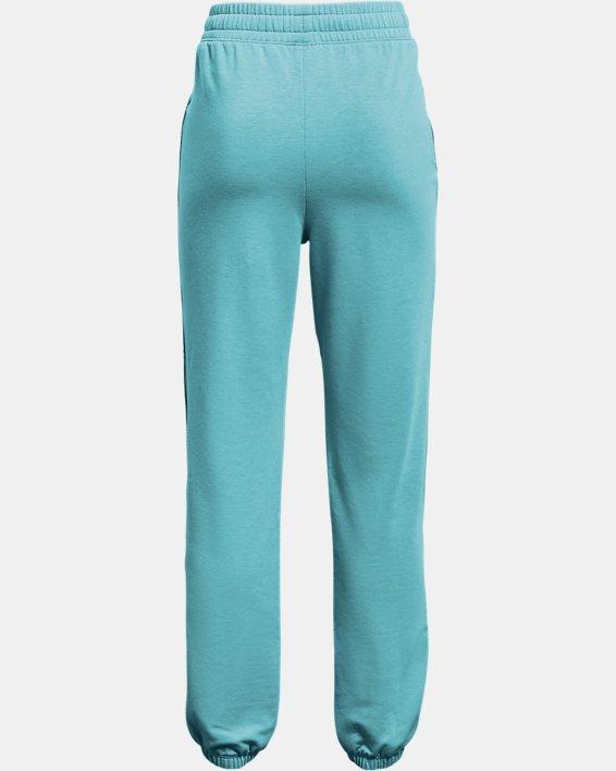 Girls' UA Rival Terry Taped Pants, Blue, pdpMainDesktop image number 1