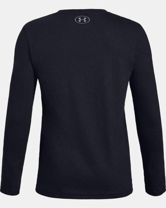 Boys' UA PNR Long Sleeve, Black, pdpMainDesktop image number 1