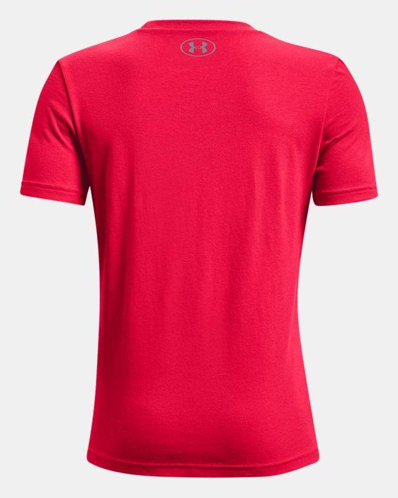 Boys' UA Voyager Print Short Sleeve, Red, pdpMainDesktop image number 1