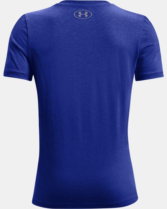 Boys' UA Branded Short Sleeve, Blue, pdpMainDesktop image number 1