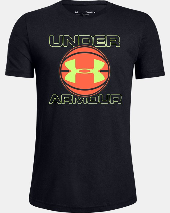 Boys' UA BBall Graphic Short Sleeve, Black, pdpMainDesktop image number 0