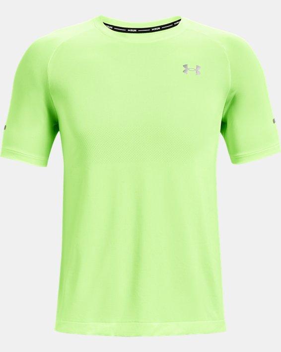 Men's UA Vanish Seamless Run Short Sleeve, Green, pdpMainDesktop image number 4
