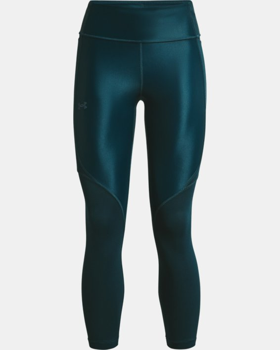 Women's UA Iso-Chill Run 7/8 Tights, Blue, pdpMainDesktop image number 4