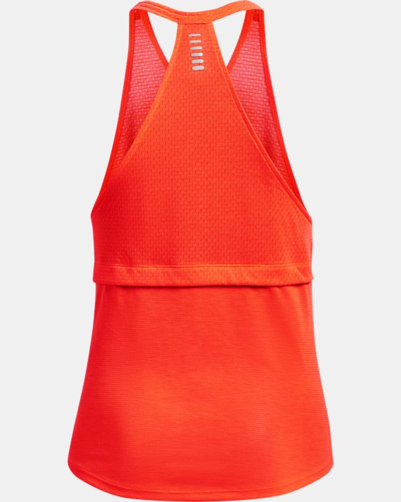 Débardeur UA Streaker Run pour femme, Orange, pdpMainDesktop image number 4