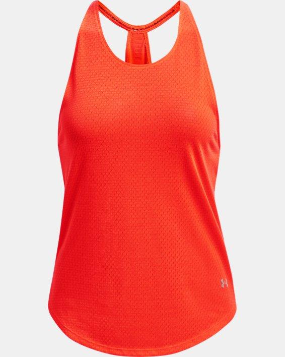 Débardeur UA Streaker Run pour femme, Orange, pdpMainDesktop image number 3