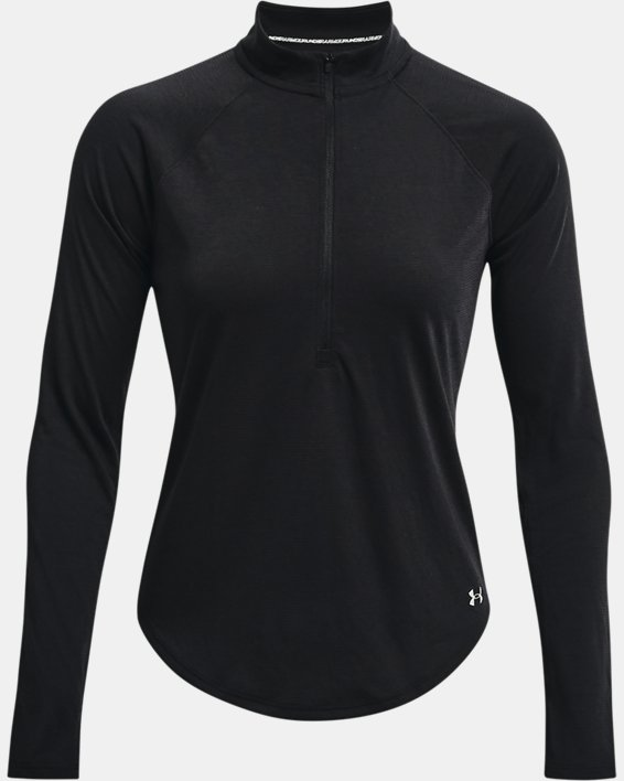 Women's UA Streaker Run ½ Zip, Black, pdpMainDesktop image number 4
