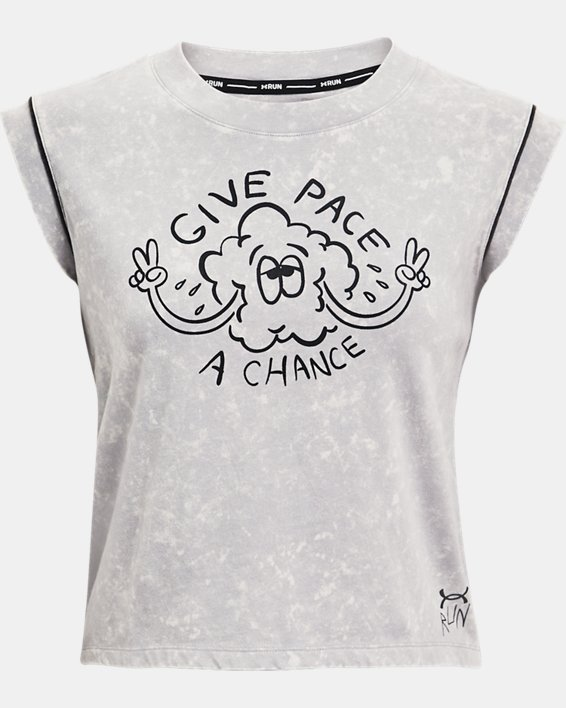 Camiseta de manga corta UA Give Pace A Chance para mujer, Gray, pdpMainDesktop image number 4
