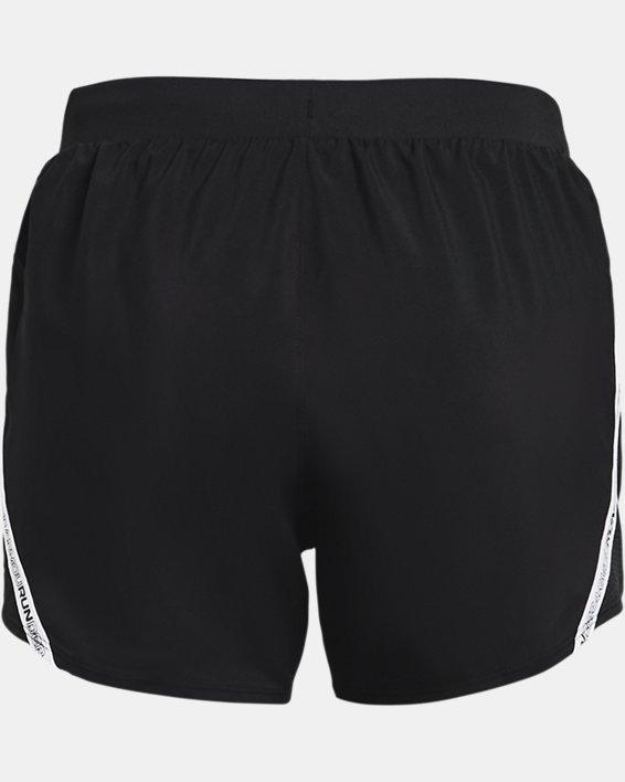 Women's UA Fly-By 2.0 Brand Shorts, Black, pdpMainDesktop image number 5