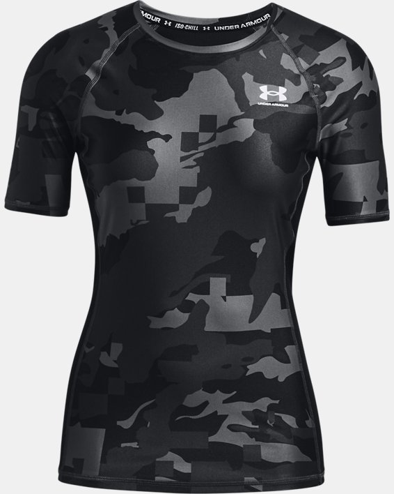Maglia a maniche corte UA Iso-Chill Compression Team da donna, Black, pdpMainDesktop image number 3