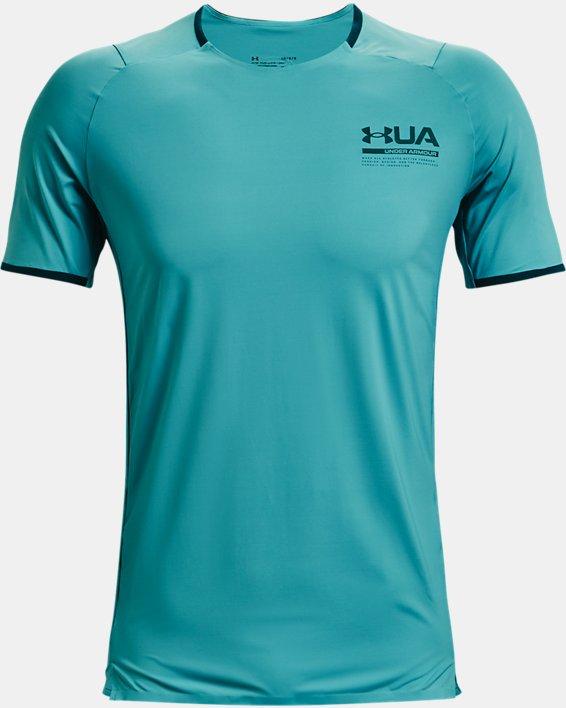 Men's UA Iso-Chill Perforated Short Sleeve, Blue, pdpMainDesktop image number 4