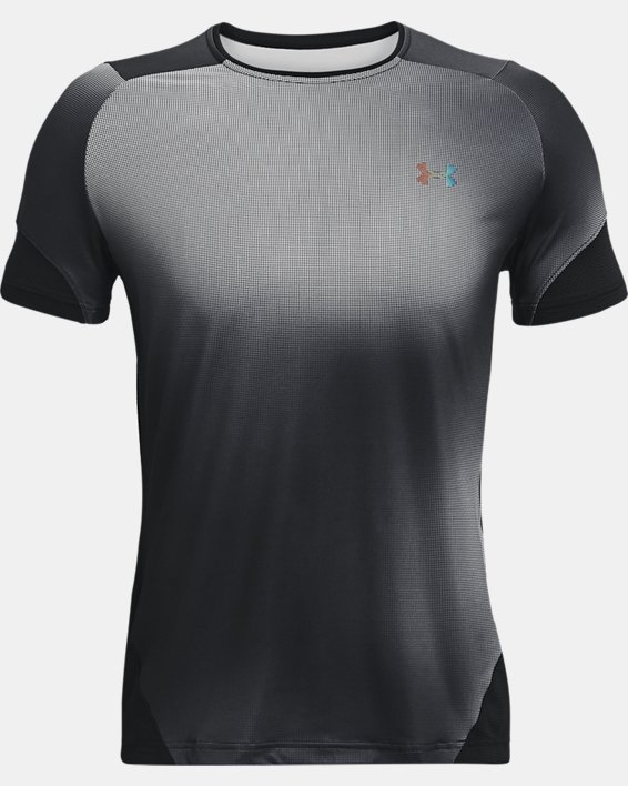 Men's UA RUSH™ HeatGear® 2.0 Print Short Sleeve, Black, pdpMainDesktop image number 4