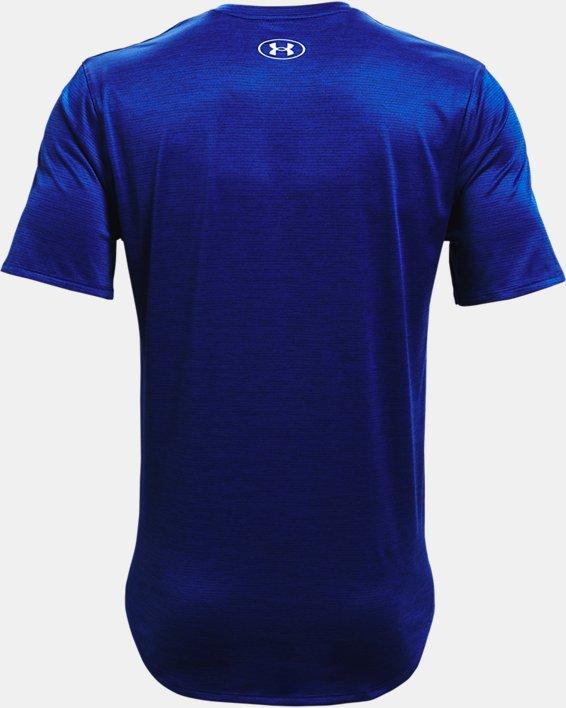Men's UA Training Vent 2.0 Short Sleeve, Blue, pdpMainDesktop image number 5