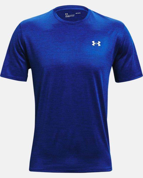 Men's UA Training Vent 2.0 Short Sleeve, Blue, pdpMainDesktop image number 4