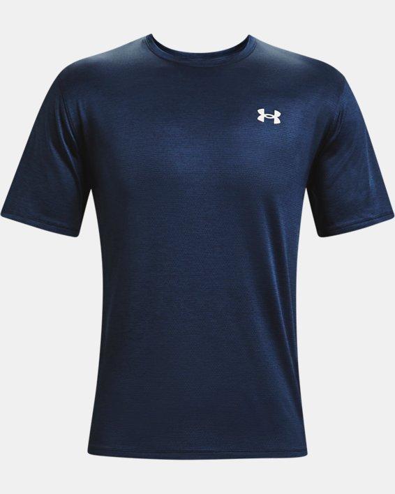 Men's UA Training Vent 2.0 Short Sleeve, Navy, pdpMainDesktop image number 4