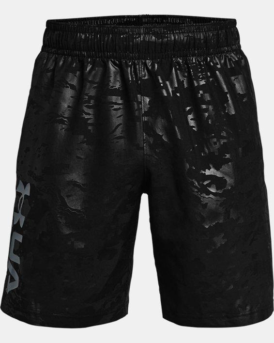 Short tissé UA Emboss pour homme, Black, pdpMainDesktop image number 4