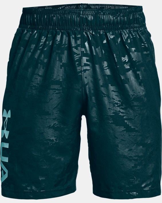 Men's UA Woven Emboss Shorts, Blue, pdpMainDesktop image number 4