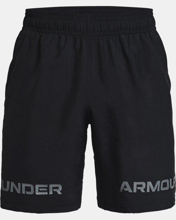 Men's UA Woven Graphic Wordmark Shorts, Black, pdpMainDesktop image number 4
