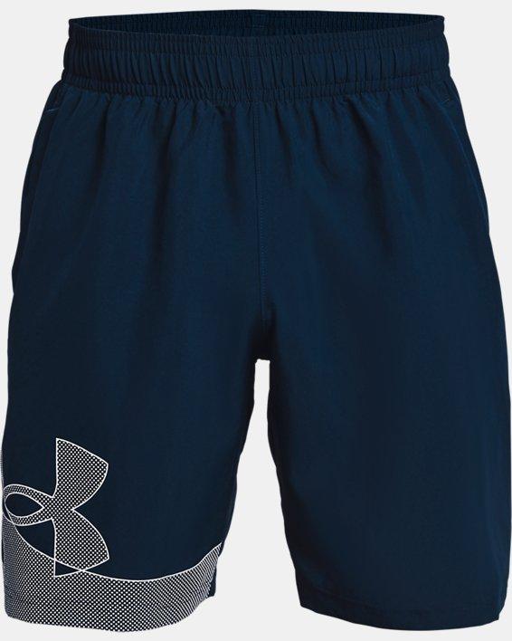 Men's UA Woven Graphic Shorts, Navy, pdpMainDesktop image number 4