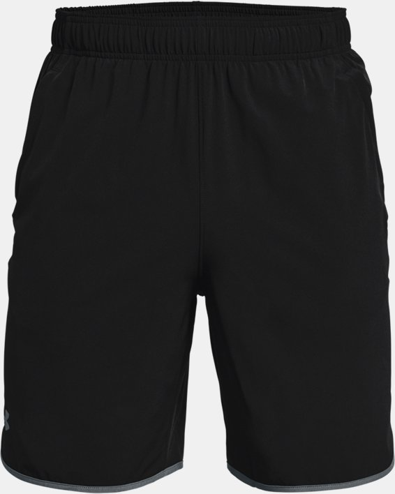 Men's UA HIIT Woven Shorts, Black, pdpMainDesktop image number 4