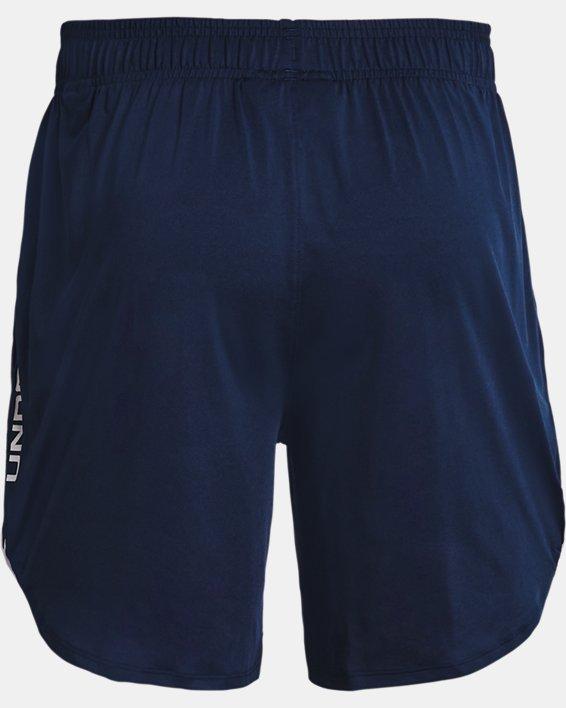 "Men's UA Train Stretch 7"" Wordmark Shorts, Navy, pdpMainDesktop image number 5"