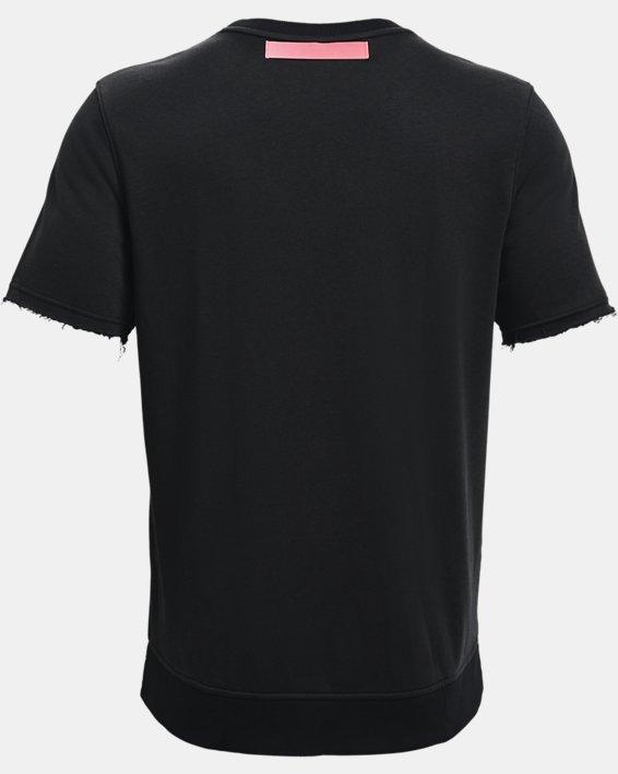 Men's UA Rival Terry AMP Short Sleeve Crew, Black, pdpMainDesktop image number 5