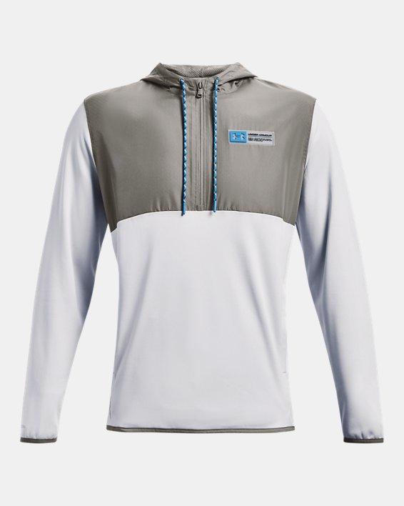 Herren Armour Fleece® Storm Hoodie mit ½ Zip, Gray, pdpMainDesktop image number 5