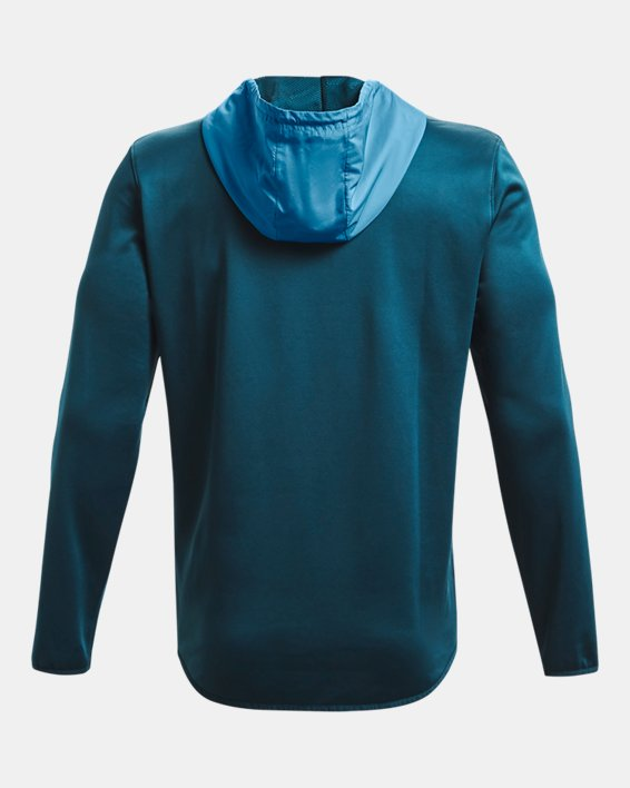 Men's Armour Fleece® Storm ½ Zip Hoodie, Blue, pdpMainDesktop image number 6