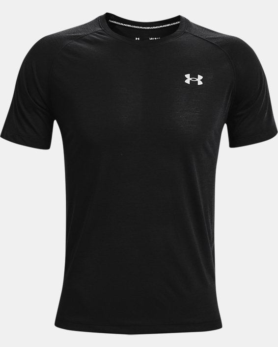 Men's UA Streaker Run Short Sleeve, Black, pdpMainDesktop image number 4