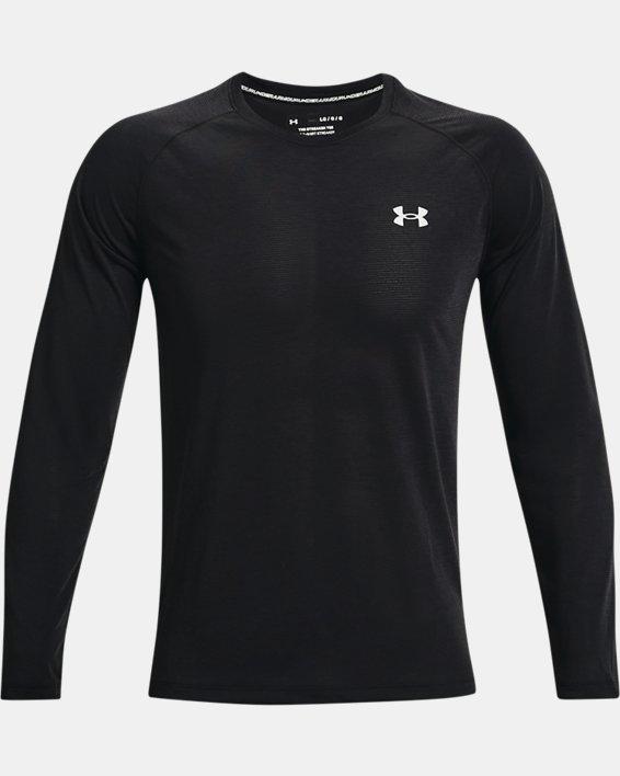 Men's UA Streaker Run Long Sleeve, Black, pdpMainDesktop image number 3