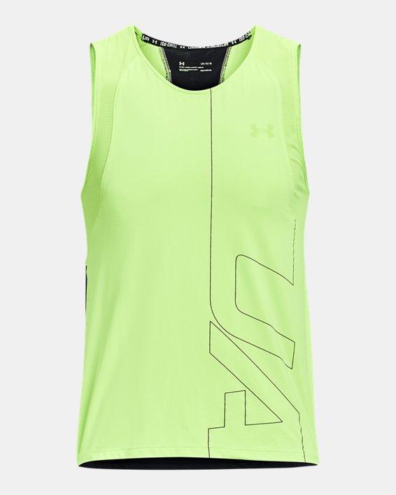 Men's UA Iso-Chill Run Brand Singlet, Green, pdpMainDesktop image number 4
