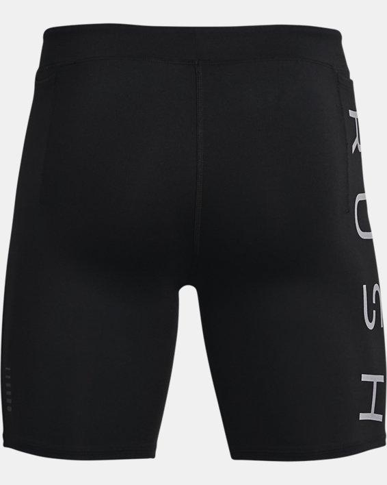 Men's UA RUSH™ Run ½ Tights, Black, pdpMainDesktop image number 5