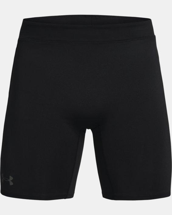 Men's UA RUSH™ Run ½ Tights, Black, pdpMainDesktop image number 4