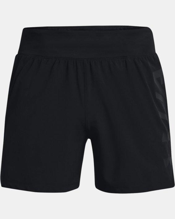 """Men's UA Speedpocket 5"""" Shorts, Black, pdpMainDesktop image number 6"""