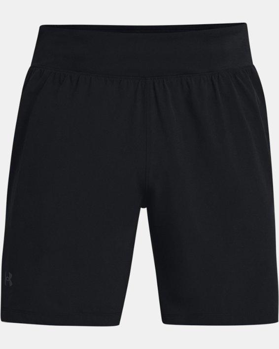 """Men's UA Speedpocket 7"""" Shorts, Black, pdpMainDesktop image number 4"""
