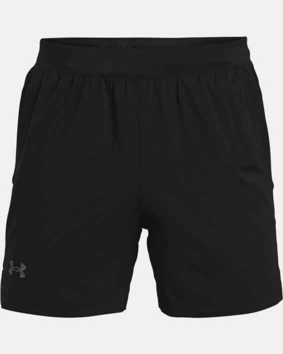 "Men's UA Launch Run 5"" Shorts, Black, pdpMainDesktop image number 4"