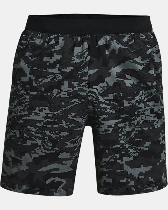 Pantalón corto UA Launch Run Print de 18cm para hombre, Black, pdpMainDesktop image number 3