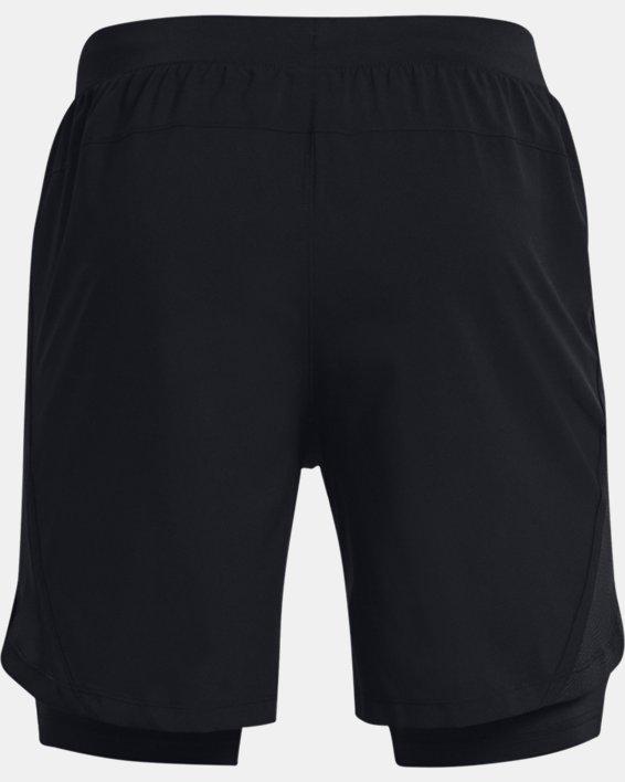 Men's UA Launch Run 2-in-1 Shorts, Black, pdpMainDesktop image number 4