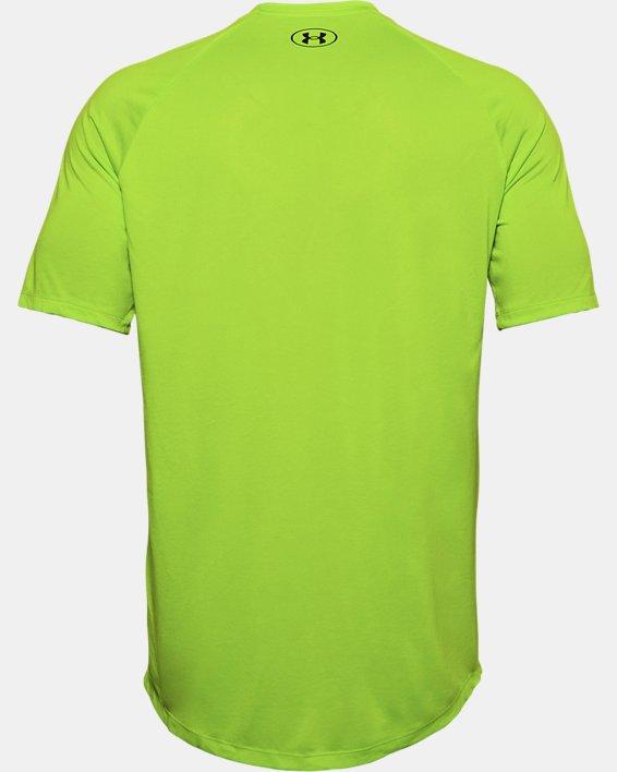 Men's UA Tech™ Triple Logo Short Sleeve, Green, pdpMainDesktop image number 5