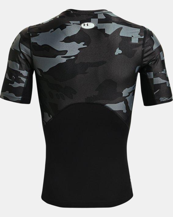 Men's UA Iso-Chill Compression Printed Short Sleeve, Black, pdpMainDesktop image number 5